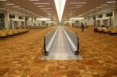 picture of escalator  - Interior of airport - JPG
