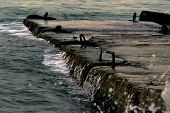 pic of sochi  - Breakwater of the Black sea, Sochi, Russia ** Note: Soft Focus at 100%, best at smaller sizes - JPG
