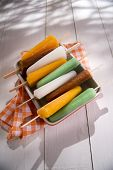 foto of popsicle  - Cool off in summer with a break at the base of the fruit popsicles - JPG