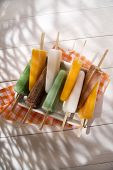 picture of popsicle  - Cool off in summer with a break at the base of the fruit popsicles  - JPG