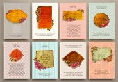 stock photo of brochure design  - Set of Vintage Labels - JPG