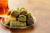 pic of baklava  - Turkish arabic dessert  - JPG
