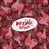 picture of marsala  - Marsala inspired seamless trendy patternfashionable sophisticated shade - JPG