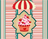 picture of awning  - Huge cupcake with pink cream - JPG