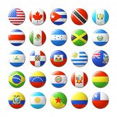 picture of flags world  - World flags round badges - JPG