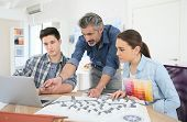 pic of teachers  - Teacher with students in architecture school - JPG