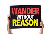 image of wander  - Wander Without Reason card isolated on white - JPG