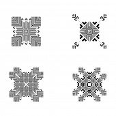 pic of tribal  - Set of Tribal and Ethnic Elements - JPG