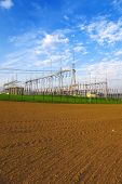 pic of substation  - High voltage power transformer substation - JPG