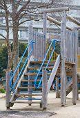image of playground  - Empty outdoor kid playground equipment at public playground - JPG
