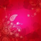 stock photo of scrollwork  - Indian flower pattern - JPG