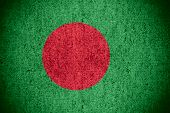 pic of bangladesh  - flag of Bangladesh or banner on rough pattern texture - JPG