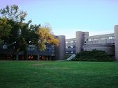 stock photo of suny  - This is the SUNY Purchase Quad in New York - JPG