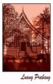 foto of buddhist  - Buddhist temple in Asia in Luang Prabang Laos  - JPG