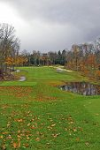 Golf Course On A Stormy Fall Day poster