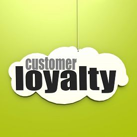 stock photo of loyalty  - White cloud with customer loyalty image with hi - JPG