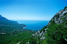 pic of crimea  - mountain and blue sky Crimea mountain nature in Crimea - JPG