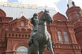 Monument To Marshal Zhukov In Moscow