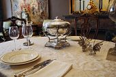 Luxury Antique Tablesetting