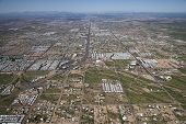 picture of snowbird  - High level aerial perspective of the valley of the sun from Apache Junction looking towards Phoenix to the west - JPG