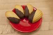 Four Chocolate Dipped Madeleines