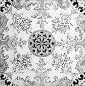 Aesthetic style design from a genuine Victorian tile circa 1885