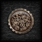 Постер, плакат: Metal Clock Gear Mechanism