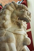 Weathered Chinese Stone Lion