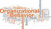 Hintergrund Konzept Wordcloud Illustration of organizational behavior