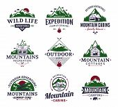 Mountain And Outdoor Recreation Logo poster