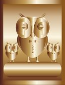 Gold owl - big boss
