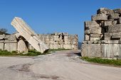 The Arcadian gate megalithic monument at Messene, Greece