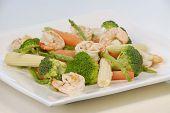 Shrimps  Vegetables