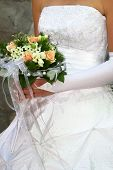 Bridal With Wedding Bouquet
