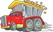 picture of dump_truck  - Dump Truck Vector Illustration - JPG