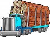 Logging Truck Vector Illustration