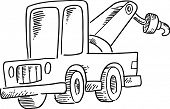 Ilustración de Vector de camión remolque incompletos