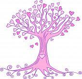 Heart Tree Vector Illustration