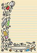 School Doodle Sketch Vector Illustration
