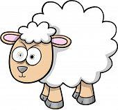 Crazy Sheep Lamb Vector Illustration