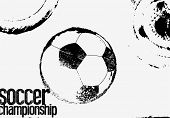 Soccer Black And White Typographical Vintage Grunge Style Poster. Retro Vector Illustration. poster