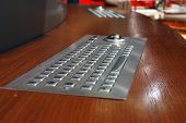 High tech stainless steel keyboard and trackball