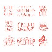 Collection For Happy Valentines Day. Overlay Crazy About You, You Are My Love, One Life Love, You Do poster