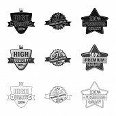 Vector Illustration Of Emblem And Badge Symbol. Collection Of Emblem And Sticker Stock Vector Illust poster