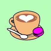 Coffee Shop Logo Vector Illustration. Espresso Coffee Icon Symbol. Espresso Coffee Sign. Coffee Shop poster