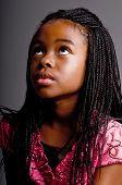 Portret van een jonge African American girl
