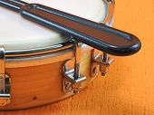 Detail Of A Tamborim And Drumstick, A Brazilian Percussion Musical Instrument. It Is Widely Used To  poster