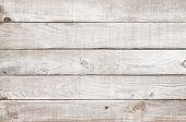 Old Weathered Wooden Plank Painted In White Color. Vintage White Pine Wood Background. poster