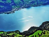 Lake Walensee, Also Known As Lake Walen Or Lake Walenstadt - Cantons Of St. Gallen And Glarus, Switz poster