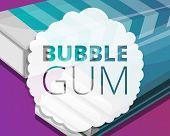 Bubble Gum Stick Pack Concept Background. Cartoon Illustration Of Bubble Gum Stick Pack Vector Conce poster